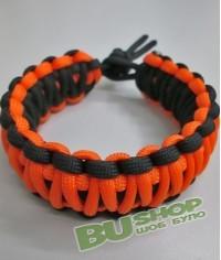 Браслет кобра Black&Orange (двойной)