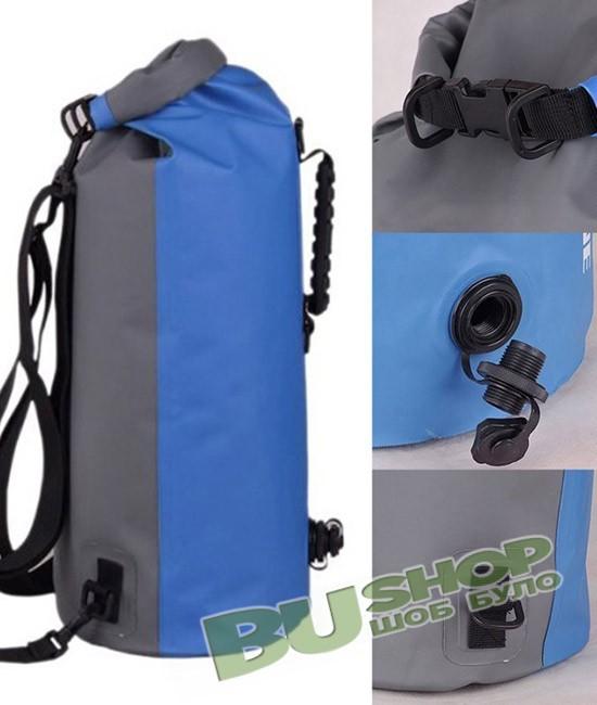 Водонепроницаемый гермомешок-рюкзак 60L