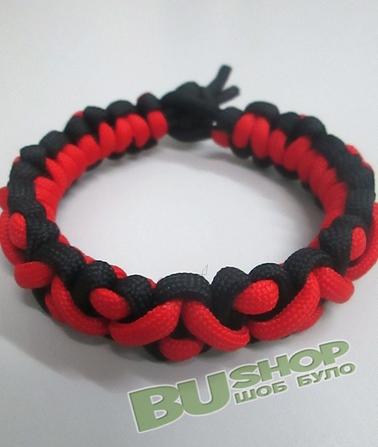 Браслет хвост геккона Black&Red