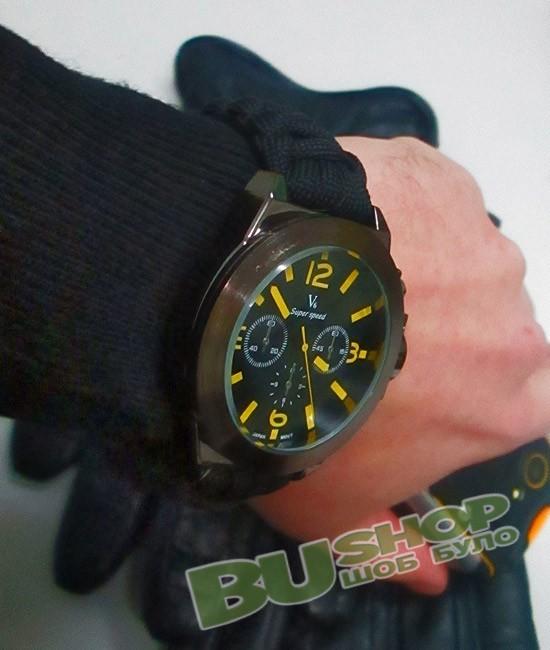 Часы наручные с браслетом из паракорда